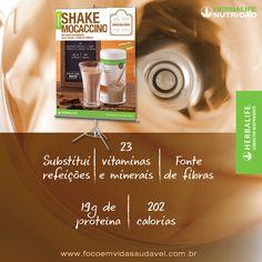 Lançamento Herbalife: Shake Mocaccino (café, cacau e um toque de canela), Com 23 vitaminas e minerais, 18g de proteína por porção, todos os aminoácidos essenciais e 1/3 das necessidades diárias de cálcio, o Shake Herbalife é uma opção muito saudável! Saiba mais: http://www.focoemvidasaudavel.com.br/saiba-mais/shake-mocaccino/