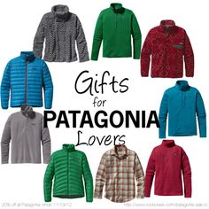 Gift ideas for Patagonia enthusiasts! Psst...all Patagonia is 20% off, ends 11/19/12