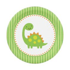 Little Green Dinosaur Baby Shower Paper Plates - baby gifts giftidea diy unique cute Baby Shower Registry, Baby Shower Host, Baby Shower Gift Basket, Baby Baskets, Baby Shower Gifts, Die Dinos Baby, Baby Dinosaurs, Classic Baby Books, Dinosaur Birthday Party