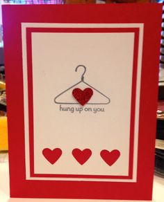 Stampin' Up! Crazy Mixed up Love and Silver Embossed Hanger