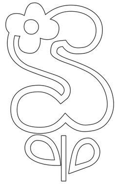 ::ARTESANATO VIRTUAL - Tecnicas de Artesanato | Dicas para Artesanato | Passo a Passo:: Letter Patterns, Stencil Patterns, Alfabeto Doodle, Different Handwriting, Doodle Alphabet, Paper Flower Patterns, Hand Lettering Art, Giant Paper Flowers, Letter Art