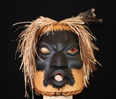 Fire keeper mask by Doug David. Northwest coast & First Nations fine art at Ahtsik Native Art Gallery.