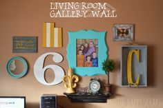 Living Room Gallery Wall at www.thehappyscraps.com