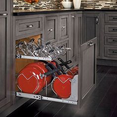Rev-A-Shelf® Base Cabinet Pullout 2-Tier Cookware Organizer