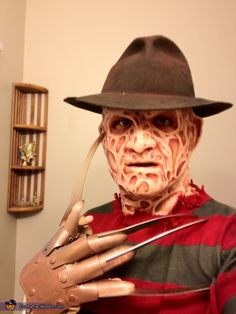 This homemade costume for men entered our 2012 Halloween Costume Contest. Scary Costumes For Men, Creepy Halloween Costumes, Cool Halloween Makeup, Homemade Halloween Costumes, Halloween Inspo, Halloween Costume Contest, Vintage Halloween, Halloween 2019, Halloween Ideas