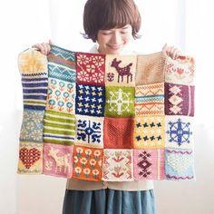 ぽってり編み地がなつかしいアフガン編みのサンプラーの会|フェリシモ
