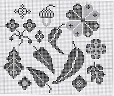 Gallery.ru / Фото #1 - Ackworth Pattern Book - natalytretyak Fall Cross Stitch, Cross Stitch Samplers, Cross Stitch Flowers, Cross Stitch Charts, Cross Stitching, Cross Stitch Embroidery, Cross Stitch Patterns, Crochet Leaf Patterns, Crochet Leaves