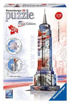 Ravensburger puzzle 3D empire state building flag edition (216 τεμ.)