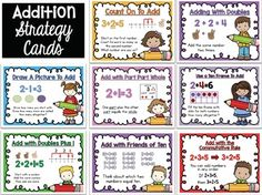 FREE Math Strategies Addition Subtraction Posters - Whimsy Workshop Teaching