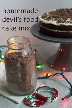 Devil's Food Cake Mix - Ditch the box mix and make your own handy devil's food cake mix.