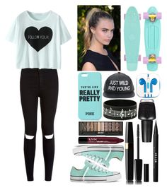 """""""@kirra-1994 style (i hope)"""" by piksist ❤ liked on Polyvore featuring Converse, PhunkeeTree, Stila and OPI"""
