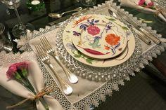 Blog da Andrea Rudge / jantar em rosa e lilás