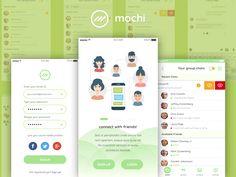 Mochi – Chat UI Kit Sketch Freebie – uxfree
