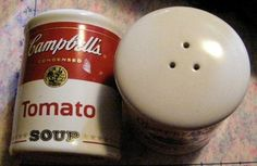 Campbell's Soup Salt and Pepper Shakers