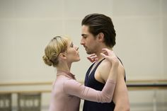 Sarah Lamb as Elizabeth and Tristan Dyer as Victor in rehearsal for Frankenstein, The Royal Ballet © 2016 ROH. Photograph by Bill Cooper