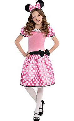 Girls Minnie Mouse Costume Deluxe