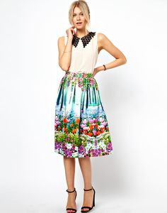 Brainy Mademoiselle: Midi Skirt