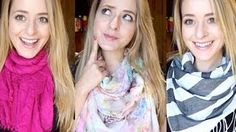 how to tie a scarf - YouTube