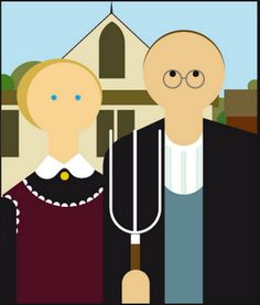 American Gothic, as interpreted by Miguel Cardil.