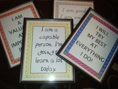 Positive affirmation posters for the classroom