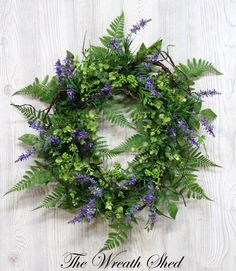 Spring Wreath for Front Door, Summer Wreath, Year Round Wreath, Spring Wreaths, Farmhouse Wreath, Fern Wreaths, Spring Wreath for Front Door by TheWreathShed on Etsy https://www.etsy.com/listing/595513919/spring-wreath-for-front-door-summer