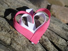 Heart Ribbon Sculpture  Heart Hair Clip  Heart by OhSoPrettyByAsia, $3.50