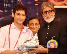 Receiving Nandi Best Actor Award from Big B.