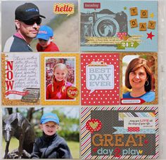 Memory Project with Xyron Mega Runner, Simple Stories 24/7 collection and Little Yellow Bicycle Naturals