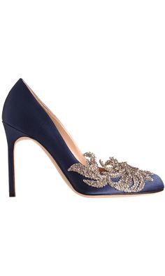 Something blue - Manolo Blahnik Swan - $1295