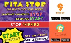 Stop the stop that is stopping you to start ordering from Pita Stop.