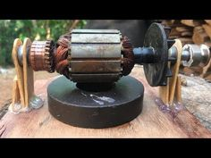Electric Motor - How to make a battery powered toy mini universal motors DIY work - YouTube