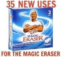 35 new uses for the Magic Eraser - Without Mr. Clean Magic Eraser I might die. Household Cleaning Tips, Diy Cleaning Products, Cleaning Solutions, Cleaning Hacks, Grout Cleaning, Cleaning Supplies, Floor Cleaning, Cleaning Schedules, Deep Cleaning Tips