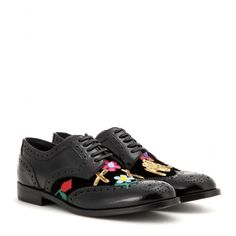 Dolce & Gabbana - Embellished patent leather brogues - mytheresa.com