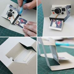 Pop Goes the DIY Pop-Up Name Card. polaroid pop up card tutorial and a few others. Very neat. Birthday Diy, Birthday Cards, Birthday Sayings, Sister Birthday, Birthday Images, Birthday Presents, Birthday Greetings, Birthday Wishes, Tarjetas Diy