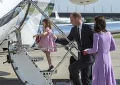 Kate Middleton Photos Photos - Prince William, Duke of Cambridge, Prince George of Cambridge, Princess Charlotte of Cambridge and Catherine, Duchess of Cambridge depart from Hamburg airport on the last day of their official visit to Poland and Germany on July 21, 2017 in Hamburg, Germany. - The Duke and Duchess of Cambridge Visit Germany - Day 3