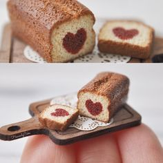 Hidden heart tiny pound cake