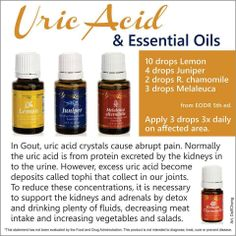 Uric Acid & Essential oils...could be helpful for gout