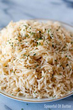 Pork Chop Side Dishes, Sides For Pork Chops, Rice Side Dishes, Side Dishes For Fish, Rice Recipes, Side Dish Recipes, Dinner Recipes, Cooking Recipes, Rice