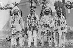 Native American Chiefs in Traditional Clothing