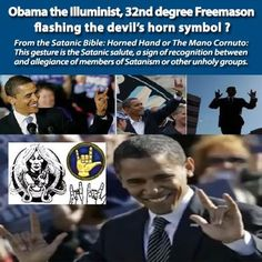 mega Illuminati top elite's puppet doing his occultic Masonic hand signals again