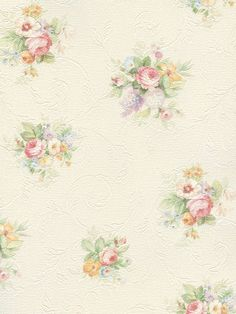 Shabby Chic Floral Rose Wallpaper (soft, subtle colors)