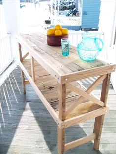 Pallet Table - Pallet Buffet and Kitchen Island | 99 Pallets