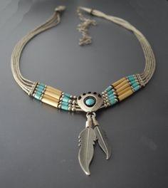 Vintage Southwest Style Turquoise Necklace  LisaWitmerCollection on Etsy, $44.00