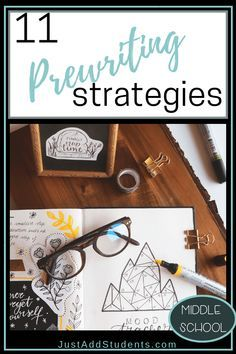 These 11 prewriting activities will help your middle school students generate ideas for their next writing prompt. Perfect for your language arts class and writing workshop. Ideas and tips for using graphic organizers. Any writing project! Expository Writing, Narrative Writing, Pre Writing, Cool Writing, Writing Workshop, Teaching Writing, Writing Activities, Workshop Ideas, Better Writing