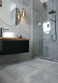 Image result for polished cement floor in bathroom