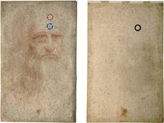 A new analysis measures the level of  degradation of Leonardo's self-portrait. Front and back of Leonardo da Vinci's self-portrait as acquired during the diagnostic studies carried out at the Central Institute for the Restoration of Archival and Library Heritage in Rome, Italy. http://scitation.aip.org/content/aip/journal/apl/104/22/10.1063/1.4879838