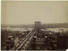 The Brooklyn Bridge, N.Y. (from the World Building.) (1895). NYPL Digital Library.