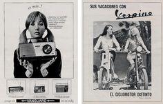 Radio Vanguard de 1967 y moto Vespino, 1968