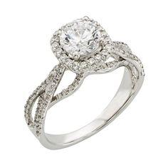 Ladies Diamond Semi Mount 1/2ctw in 14k White Gold