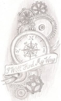 steampunk compass tattoo compass sleeve tattoo compass tattoo ideas ...